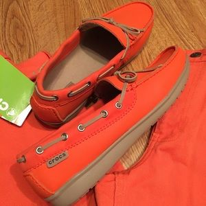 New CROCS wrap colorlite Loafers Orange-Relaxedfit